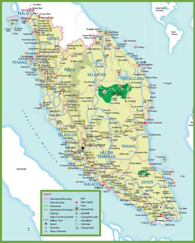 Mrt Harta Malaezia Mrt Hartă In Malaysia Asia De Sud Est Asia