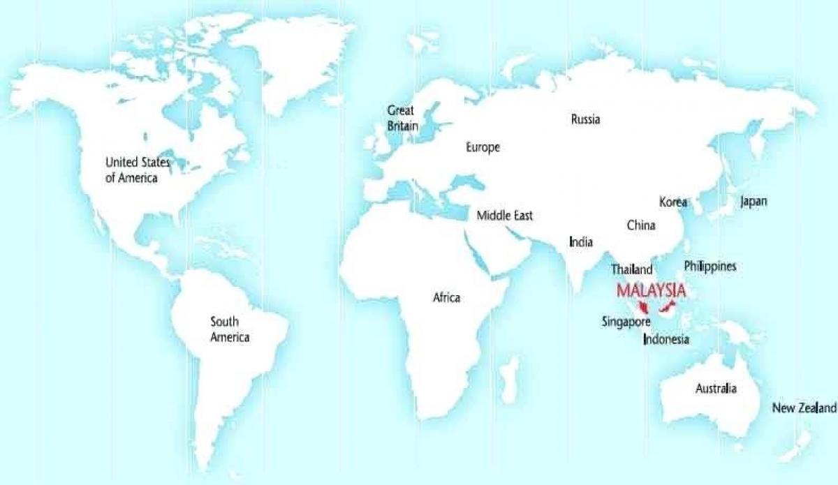 Malaezia Pe Harta Lumii World Map Arată Malaysia Asia De Sud